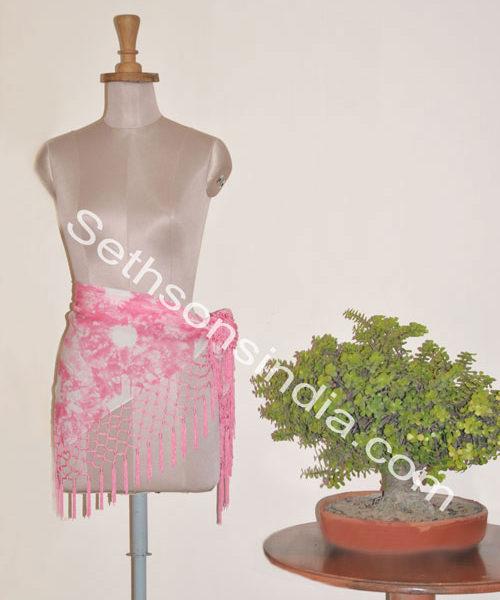 pink belly scarves